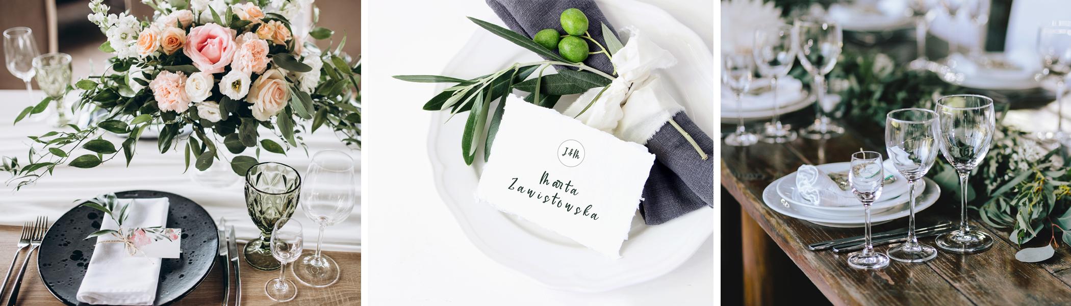 Dekoracja stołów na imprezy i śluby