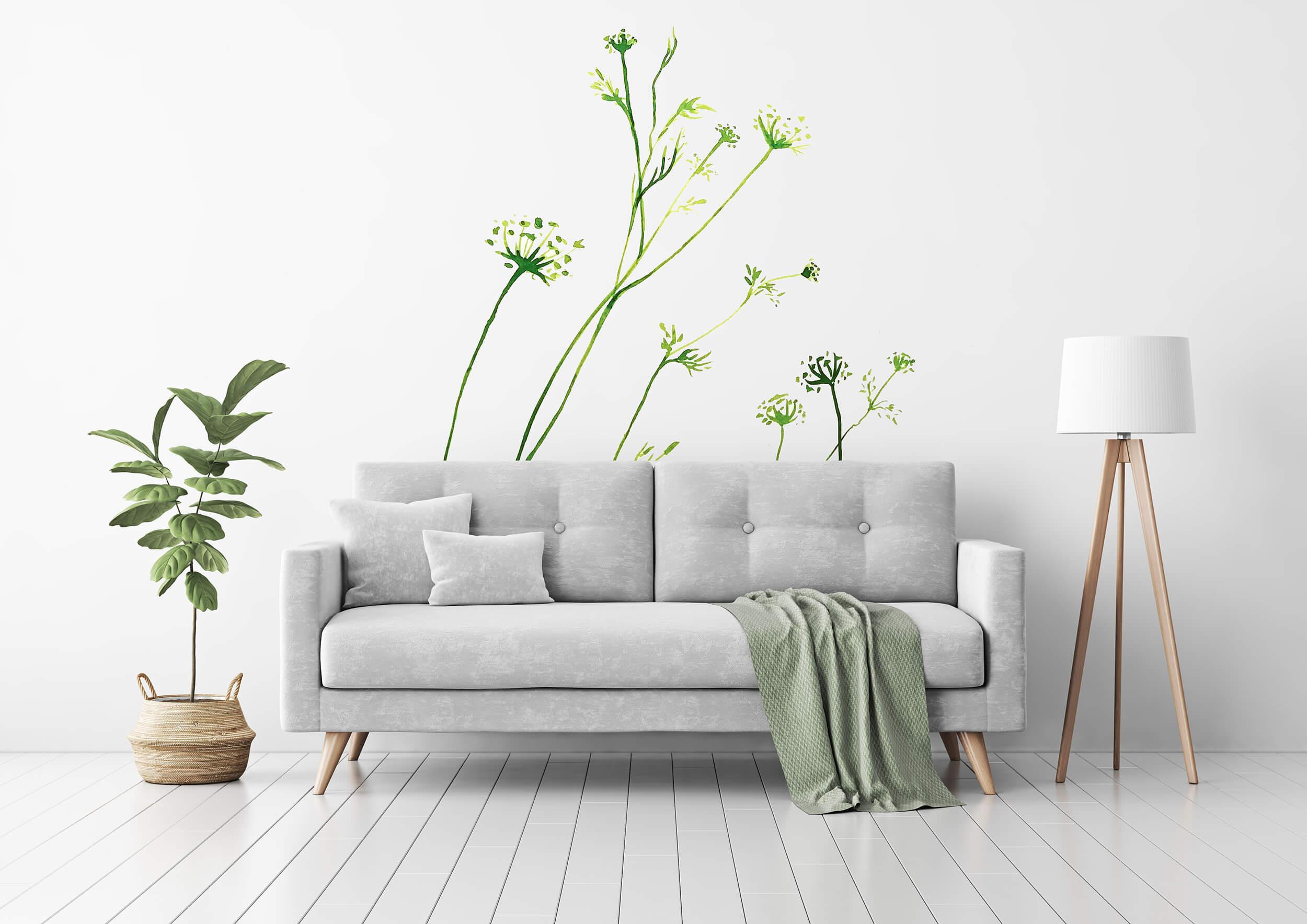 Fototapeta botaniczna, zielona